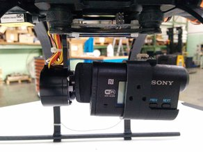 Adapter for Sony AS action cams to 2D brushless gimbals for GoPro