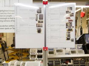 Sign Holder for Workstation Frame