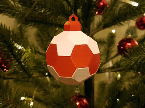 Single Extruder Truncated Icosahedron Ornament