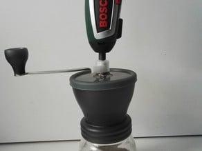 Hario Skerton coffee mill electric screwdriver adapter