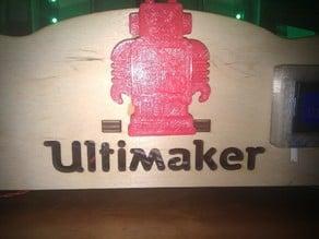 Ultimaker Robot Mascot and Hood Ornament