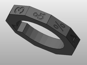 Customizable Ring for Flash Drive Cryptex