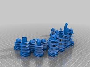 corkscrew chess set