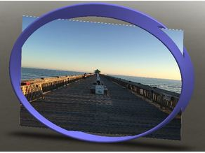 "Mobius Strip Picture Frame, 5""x7"""