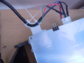 Anet A8 Clip-on Heatbed Cable Strain Relief