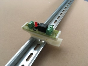 DIN rail Holder 35 mm for electronics 20x72 mm