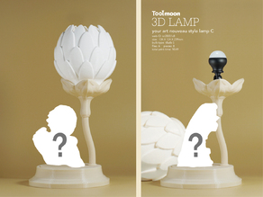 your art nouveau style lamp C