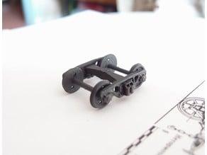 SZHD/RZHD railcar bogie 1:87 (H0)