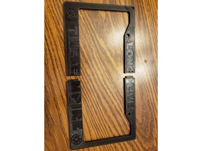 Empire License Plate Frame