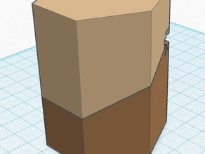 Hexagon box, lided and hinged