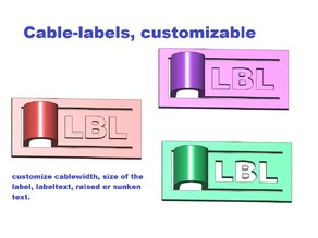 Cable-Label, customizable