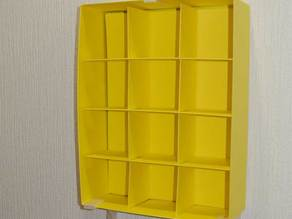 A wall mounter of IKEA paper box