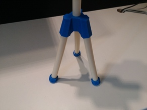 PVC DIY Tripod lightstand and Smartphone holder