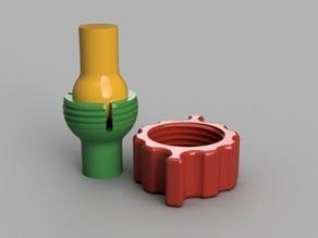 Ball and Socket Locking swivel components
