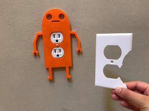 Robot Wall Socket Cover