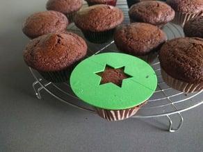 Muffin stencil star