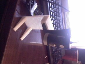 Webcam stand for barcode scanning