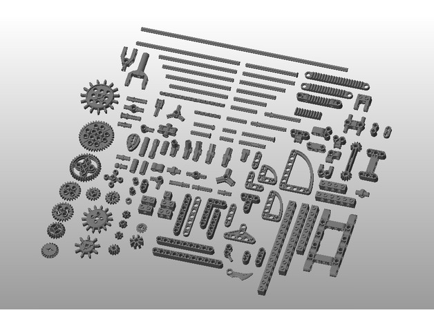Lego Technic Parts Collection 2 0 by 5665 - Thingiverse