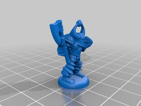 HeroQuest Chaos Warrior 18mm version