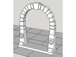 Heroquest / tabletop dungeon double-wide door