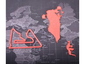 Bahrain Map and Bahrain International Circuit
