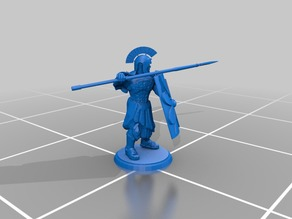 Roman Legionnaire - Fighting Stance - Spear and Shield 2