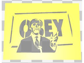 THEY LIVE STENCIL