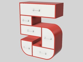 5-Frame Set of Drawers