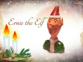 Ernie the Elf Christmas Decoration