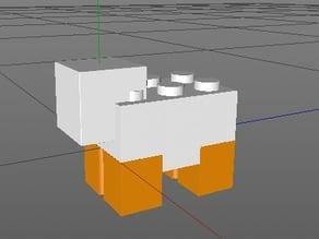 Minecraft Lego Compatible Sheep VB1001