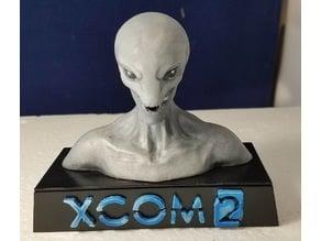 XCOM2 Sectoid Bust Plinth