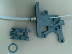 Jonas Kuehling Wade Extruder adapted for RepRapWorld Pneufit - Bowden Extrusion
