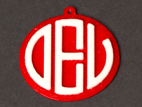 Customizable Monogram Pendant