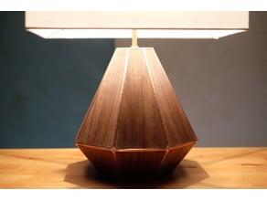 3d print and walnut lamp