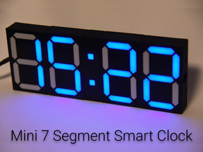 Mini 7 Segment Smart Clock