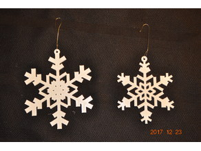 Random Snowflake Generator v11 ornament and earrings