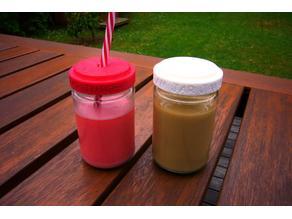 Jam Jar Coffee and Juice tops!