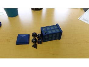 Tardis Dice Holder