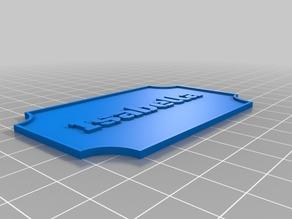 Isabella Customized Nameplate