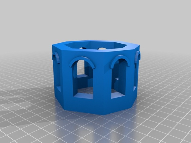 Fish tank tower by bigideas3d thingiverse for Tower fish tank