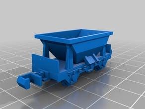 N scale freight mine wagon