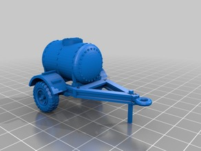 Water tank trailer model 1/56