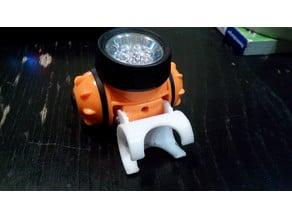 Headlamp mount for children's scooter