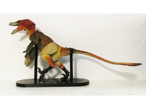 "Alternative board with static rods for ""Beasts of the Mesozoic: Raptor Series Action Figures"""