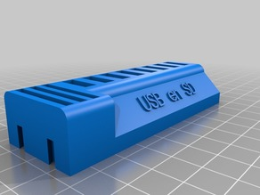 My Customized USB stick and SD card holder