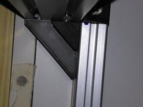 Corner brackets for alu profiles 20x20, 20x40