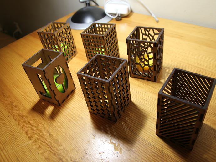 Genoeg Laser Cut Candle Holders by antpgomes - Thingiverse #OZ34