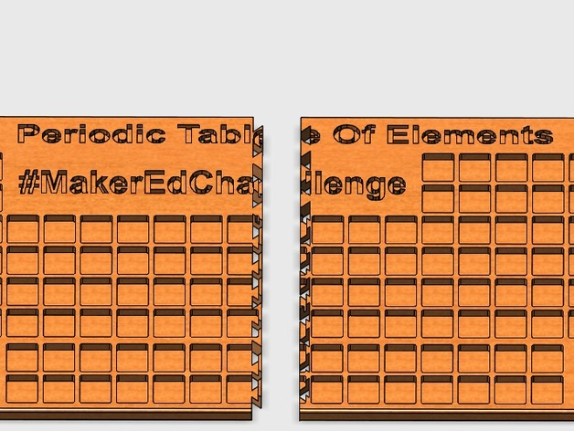 Periodic table of elements puzzle by pk3d2002 thingiverse thingiview urtaz Images