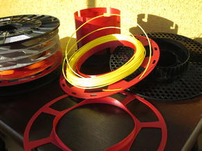 Filament sub spools for sample packs