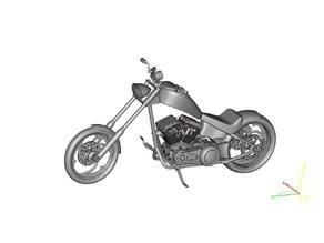 Harley Chopper Motorcycle
